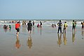 Playful People with Sea Waves - New Digha Beach - East Midnapore 2015-05-01 8786.JPG