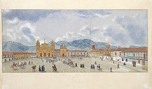 Bolívar Square - Bolívar Square in 1846