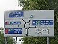 Pointer before Haabersti roundabout.JPG