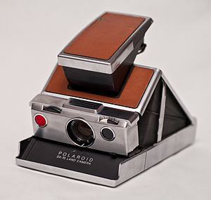 Polaroid SX-70 - An opened SX-70, ready for use