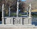 Polhov Gradec Manor Slovenia - Neptune Fountain.JPG