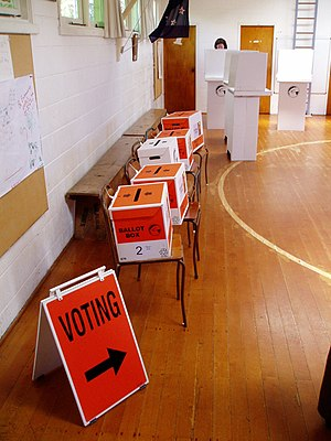English: Polling place for New Zealand general...