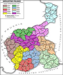 Podział administracyjny Królestwa Polskiego w 1907 r.