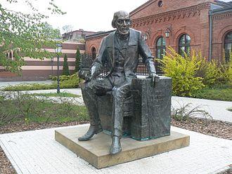 Philippe de Girard - The statue of Philippe de Girard in Żyrardów