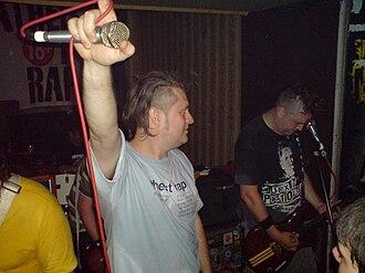 "Atheist Rap - The mainstay band members: Aleksandar Popov ""Dr. Pop"" and Vladimir Radusinović ""Radule"" performing with Atheist Rap"