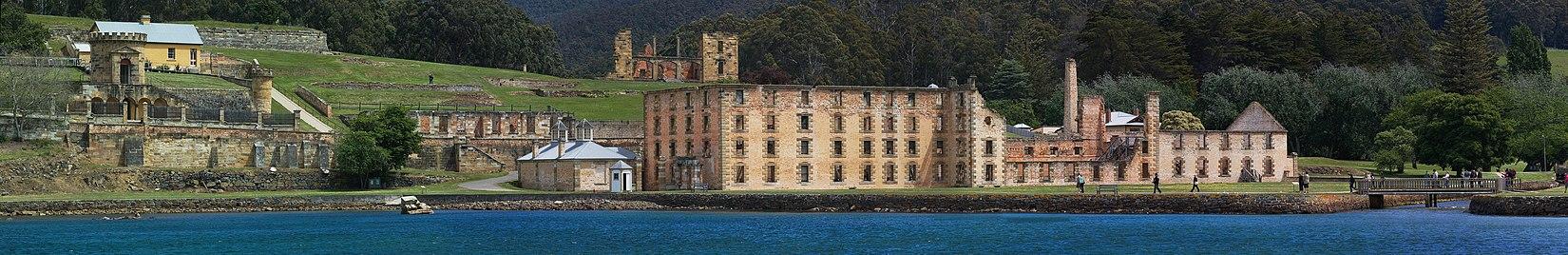 Bức tranh toàn cảnh của nhà tù Port Arthur.
