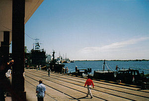 Paraguay River - Deep water port on the River Paraguay in Asunción, Paraguay