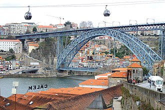 Dom Luís I Bridge - The decks and archway emblematic of the D. Luís bridge