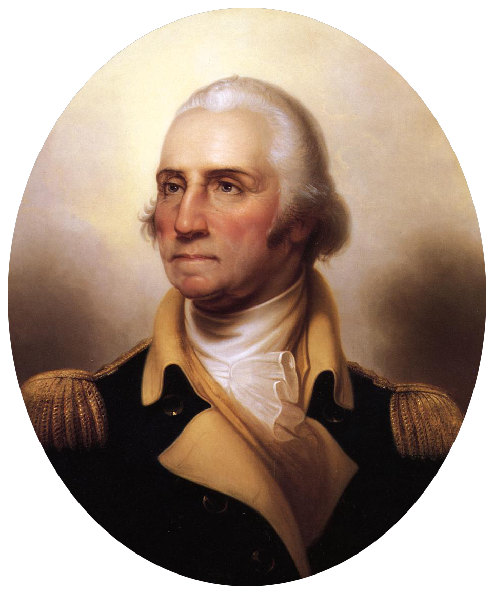 Portrait of George Washington-transparent