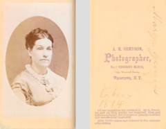 Portrait of woman by A M Gendron of Watertown NY.png