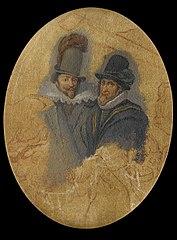 Portrait of Princes Maurits (1567-1625) and Frederik Hendrik (1584-1647)