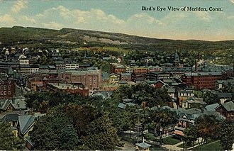 Meriden, Connecticut - Aerial view, about 1914