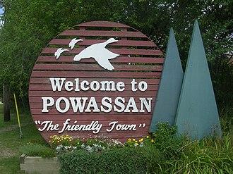 Powassan - Image: Powassan welcome sign