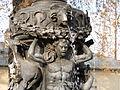 Praha, Královská zahrada, detail zpívající fontány.JPG