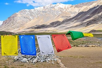 Prayer flag - Prayer flag at Sarchu.