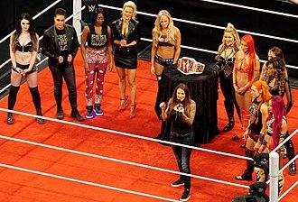 Lita (wrestler) - Lita presenting the WWE Women's Championship on Raw in April 2016