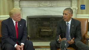 File:President Obama Meets with President-Elect Trump.webm