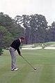 President Ronald Reagan playing golf at the Augusta National Golf Club in Georgia.jpg