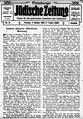 Pressburger Jüdische Zeitung vom 2. Oktober 1908, S. 1.jpg