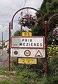 Prix-lès-Mézières (Ardennes) city limit sign-recoupé.jpg