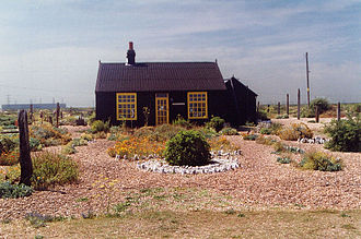 Dungeness (headland) - Prospect Cottage, Dungeness in 2004