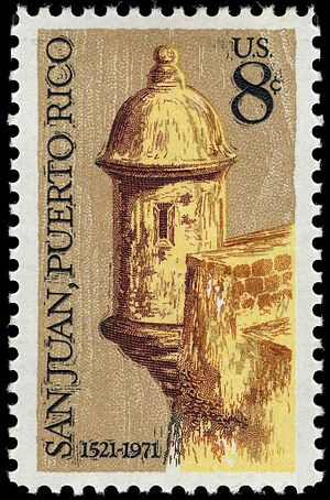 Puerto Rico on stamps - San Juan 450th 1971 issue