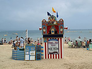 English: Punch and Judy Taken on Esplanade