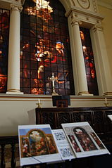 QRpedia codes on display at the famous East Window of St Paul's