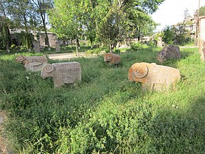 Sisian - Tombstones of pre-Christian era in Sisian