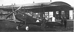 Royal Aircraft Factory R.E.8 - R.E.8 with enlarged fin, at training unit
