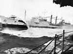 RFA Tidesurge (A98) refuels USS Forrestal (CVA-59) on 25 August 1967 (02).jpg