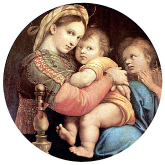 Abolhassan Sadighi - Madonna and the Christ by Raphael