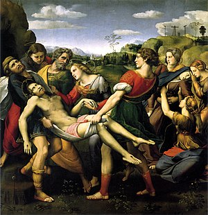 The Entombment of Christ (Caravaggio) - Raphael's Deposition (1507), Galleria Borghese, Rome