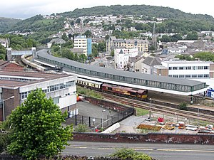 Pontypridd railway station - A visiting railtour in the station