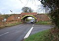 Railway Bridge-Road Junction near Coton - geograph.org.uk - 324164.jpg
