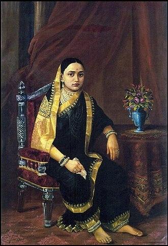 Sayajirao Gaekwad III - Maharani Chimnabai by Raja Ravi Varma