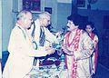 Rajib Gandhi Sadbhawna Award 2005- Arabinda Muduli - Janaki Ballabh Pattanaik 01.jpg