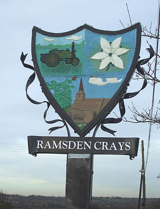 Ramsden Crays - Image: Ramsden crays village sign