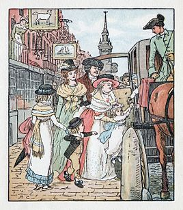 Randolph Caldecott - Picture Book No. 1 - page 7 - The Diverting History of John Gilpin, Illustration 5 (2nd colour).jpg