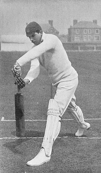 William Gunn (cricketer) - Gunn's drive between mid-off and extra-cover