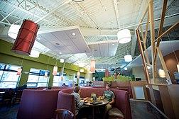 Students eating at the Rare Air Cafe
