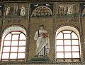 Ravenna, sant'apollinare nuovo, int., santi e profeti, epoca di teodorico 18.JPG