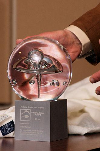 Philip J. Klass - Ray Hyman accepts the 2010 NCAS Philip Klass Award