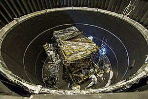 Integrated Science Instrument Module - ISIM being prepared for a thermal vacuum test, 2013