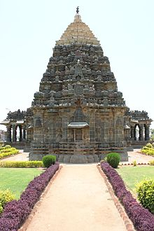 Rear view showing lateral entrances of the Mahadeva Temple at Itagi in the Koppal district.JPG