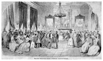 Gheorghe Bibescu - A soirée at the Princely Palace, 1843