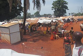 Refugees camp in PK3, Bria, Central African Republic, 12 June 2018.jpg