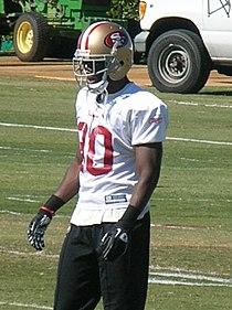 Reggie Smith at 49ers training camp 2010-08-11 1.JPG