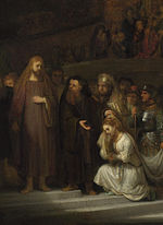 Rembrandt Christ and the Woman Taken in Adultery (cropped for central figures).jpg
