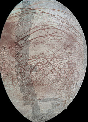 Europa Clipper - Multiple flybys of Europa by a previous mission collected the data for this mosaic